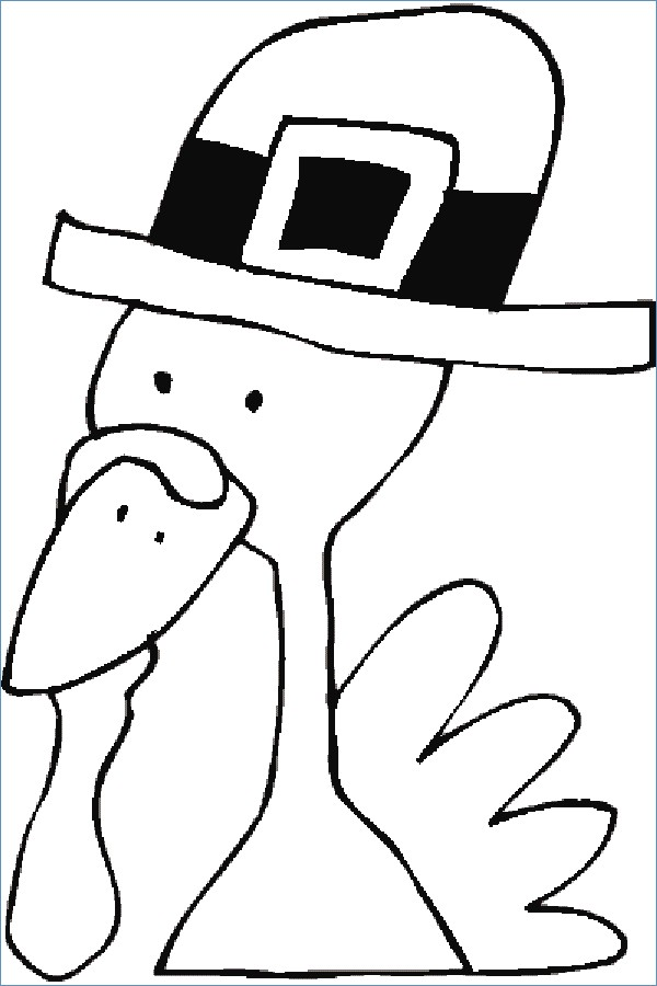 Turkey clip art coloring page. Funny thanksgiving pages rkomitet