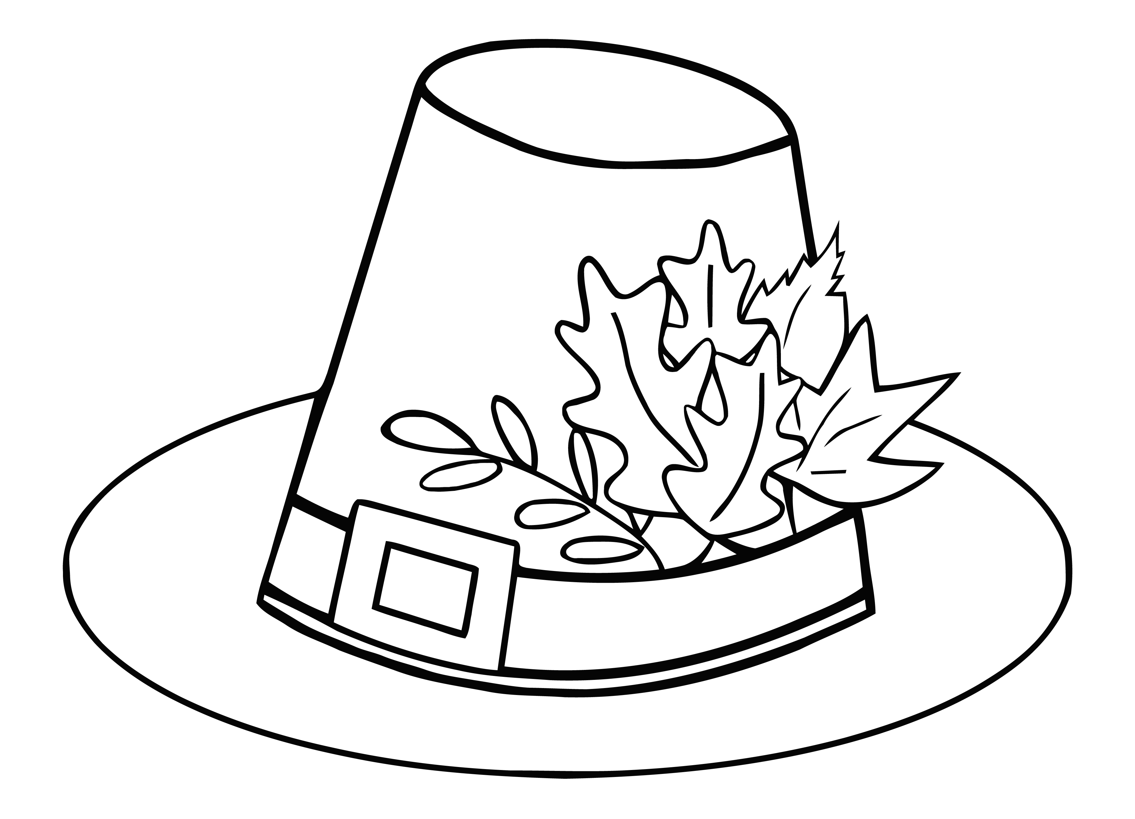 Turkey clip art coloring page. Improved fall leaves pages
