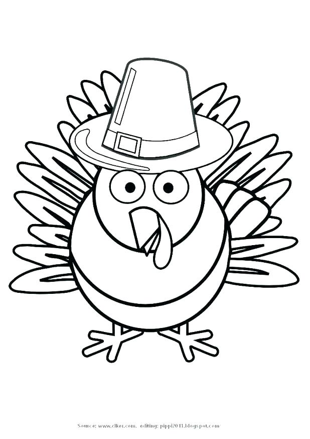 Turkey clip art coloring page. Thanksgiving dinner pages flag