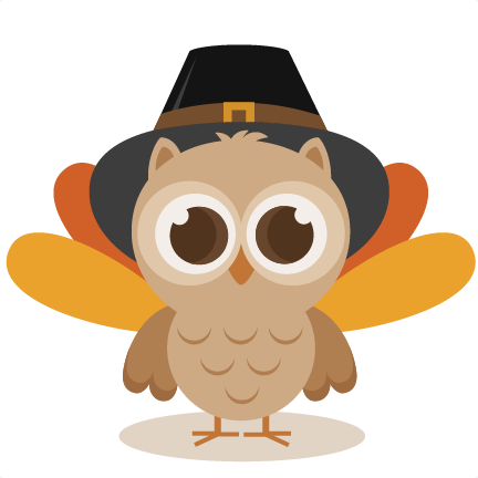 Thanksgiving owl svg cutting. Turkey clip art cute jpg black and white library