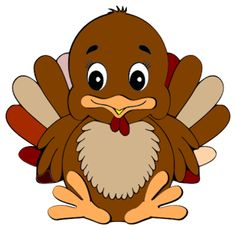 Turkey clip art cute. Thanksgiving cartoon with speech