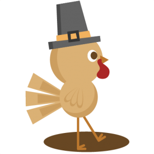 Turkey clip art cute. Svg cutting file thanksgiving