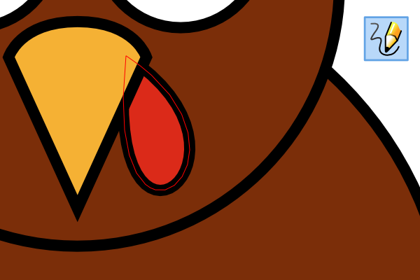 How to draw a. Turkey clip art easy graphic transparent
