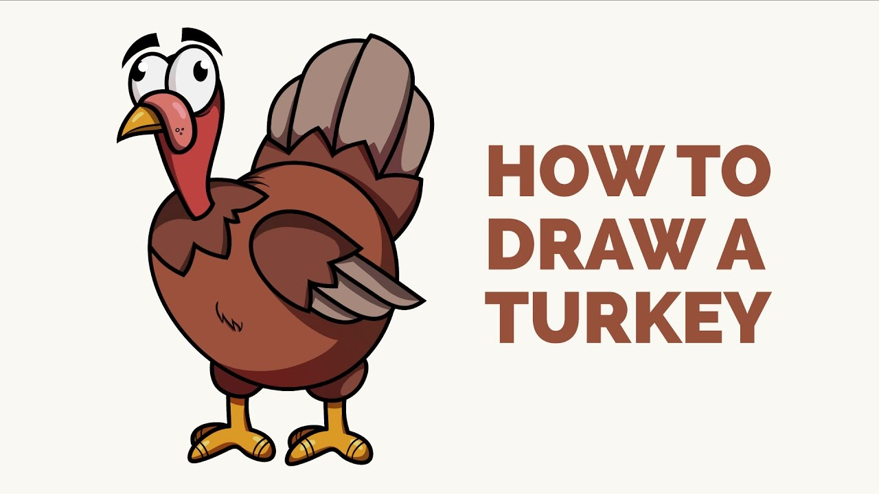 How to draw a. Turkey clip art easy banner freeuse download