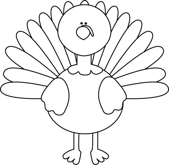 Turkey clip art outline. Clipart coloring page