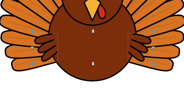 Turkey clip art realistic. How to draw a