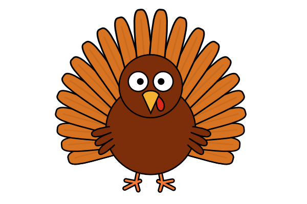 How to draw a. Turkey clip art realistic banner royalty free stock