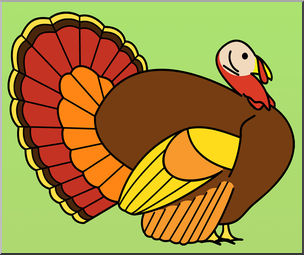 Turkey clip art realistic. Color i abcteach com