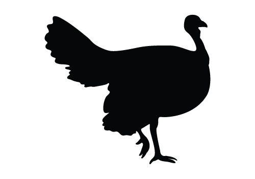 Turkey clip art silhouette. Vectors for your thanksgiving
