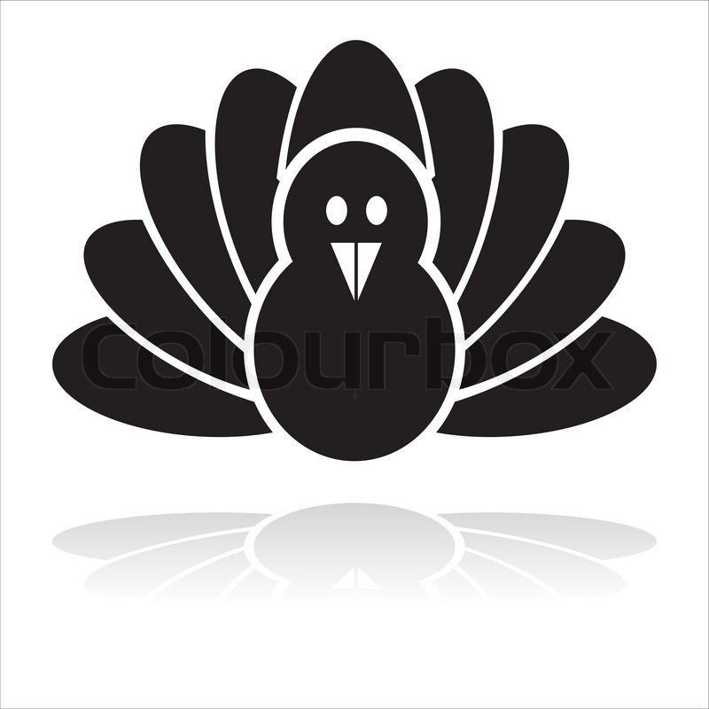 Turkey clip art silhouette. Cooked black bird icon