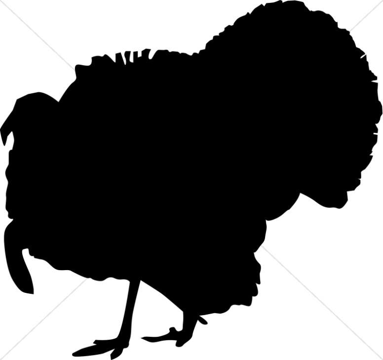 Turkey clip art silhouette. Thanksgiving clipart