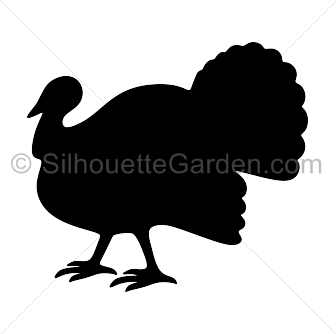Turkey clip art silhouette.