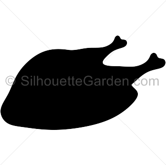 Cooked . Turkey clip art silhouette picture transparent stock