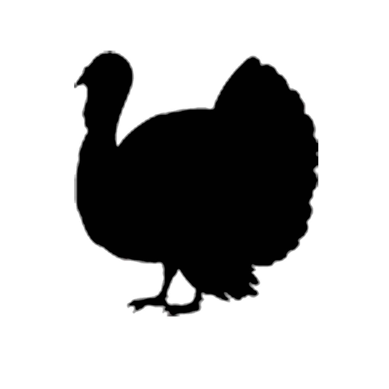 Turkey clip art silhouette. Thanksgiving at getdrawings com