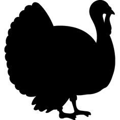 Vectors for your thanksgiving. Turkey clip art silhouette jpg freeuse library