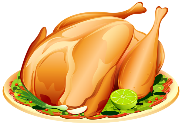 Turkey clipart yellow. Cooked roast png image