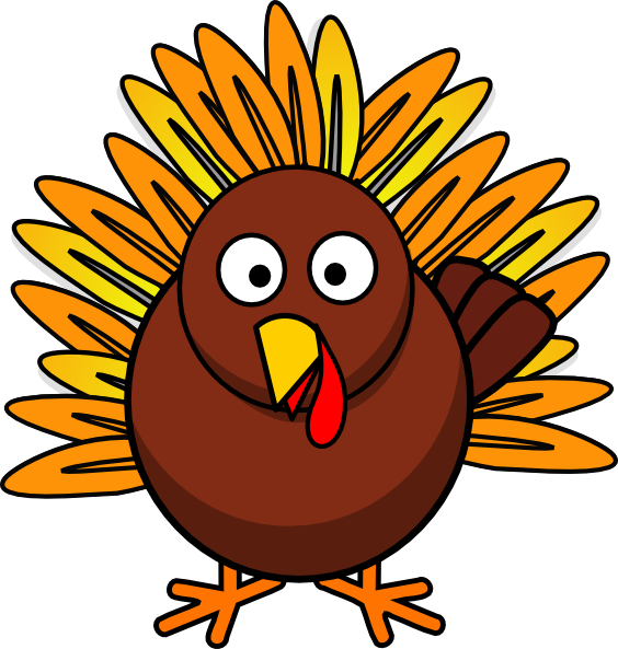 Turkey clipart yellow. Thanksgiving silhouette clip art