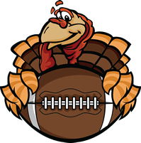 Turkey football png. Thanksgiving games betting odds