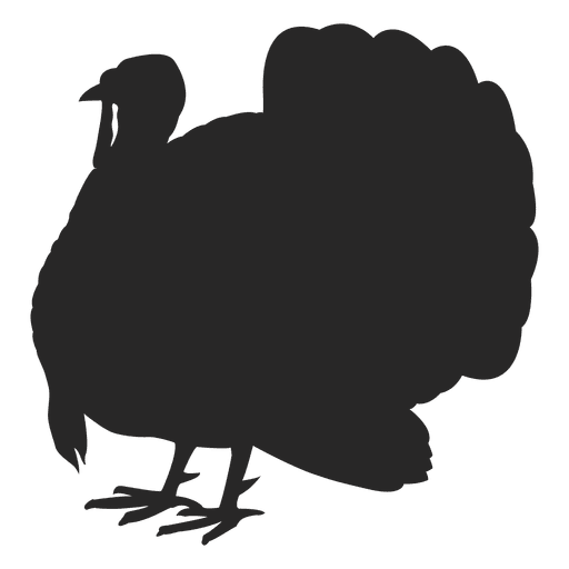 Turkey png clipart. Standing silhouette transparent svg