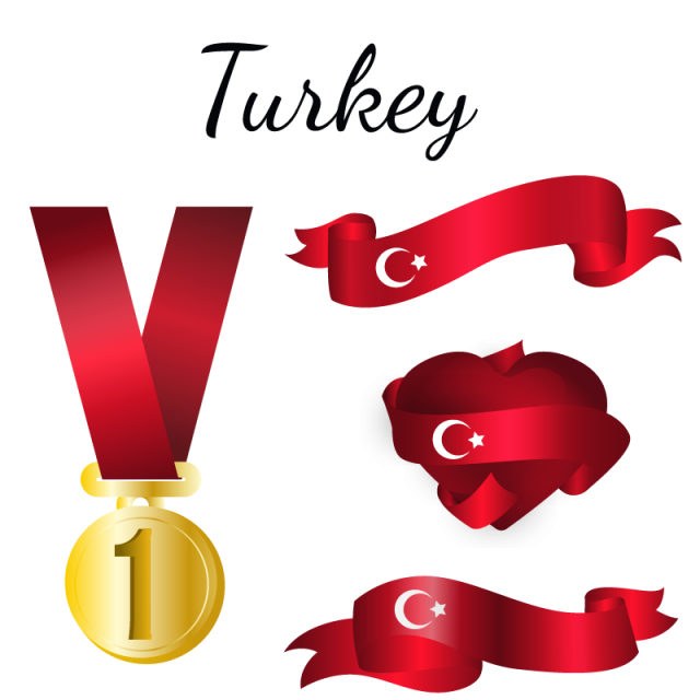 Turkish flag png. Turkey country and vector