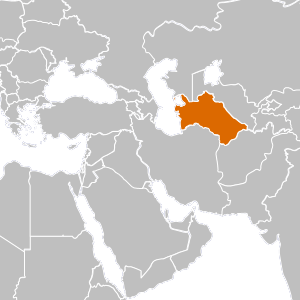 Turkmenistan. Country overview map