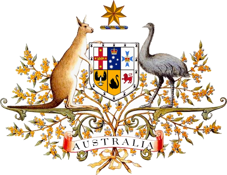 Turn a png into a coat of arms. Australia wikipedia
