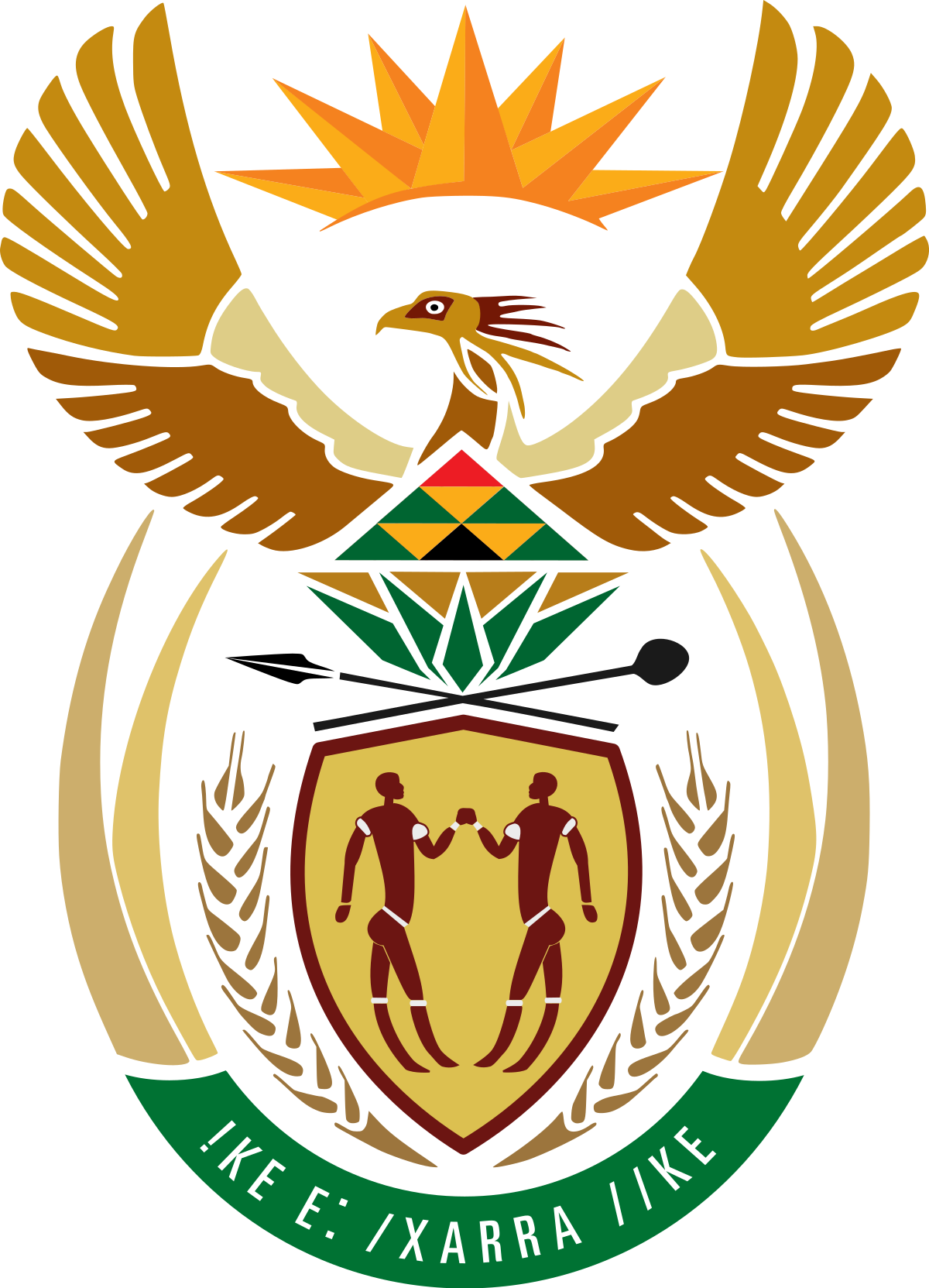 Turn a png into a coat of arms. The national south african