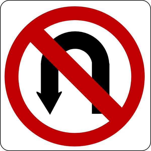 Turning a png into a vector. No u turn sign