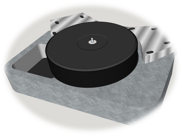 Turntables drawing music box. The eiger galibier design