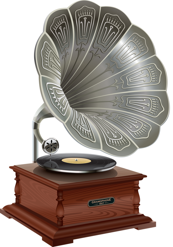 Turntables drawing flower. Png victrolas and