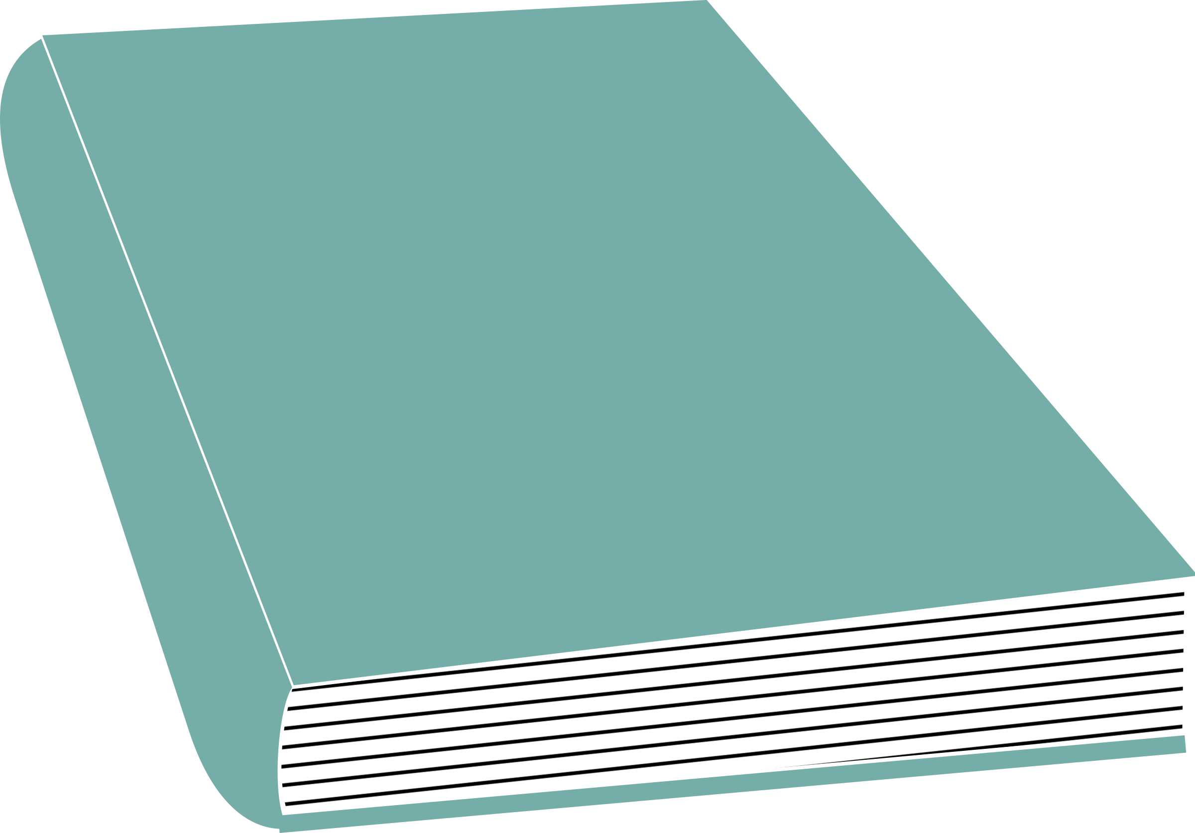 Turquoisebook spine png. Clipart closed book big