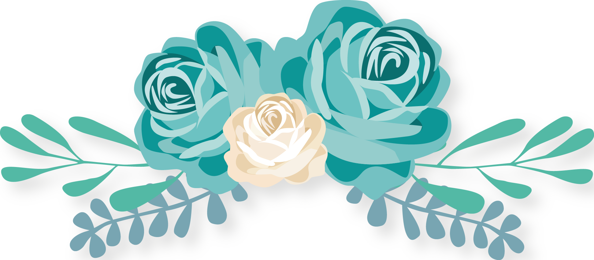 Turquoise flower png. Clip art valentines day