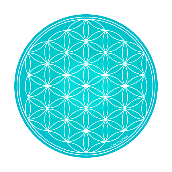 Turquoise flower png. Of life harmonising disk