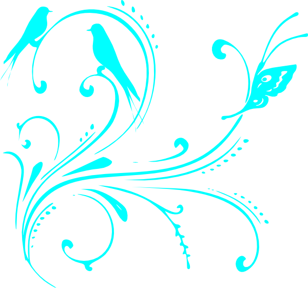 Turquoise flower png. Clipart clip art library
