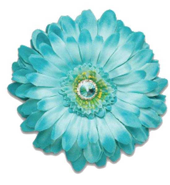 Turquoise flower png. Blue aqua color teal