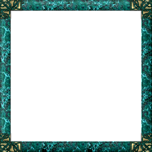 turquoise frame png