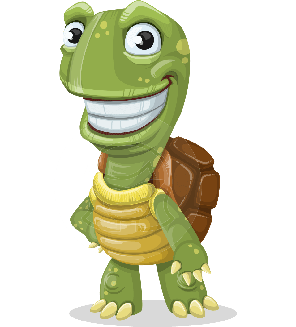 Turtle cartoon png. Vector character juan the