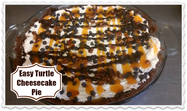 Turtle cheesecake png. Easy pie