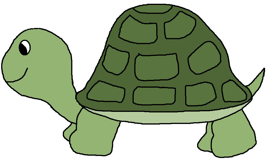 Playing . Turtle clipart image stock