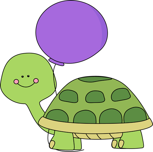 Turtle clipart png. With purple balloon clip