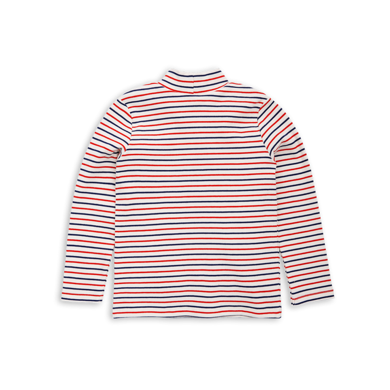 Turtle neck png. Striped turtleneck in off