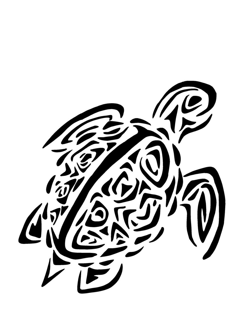 Hawaiian turtle tattoos designs. Turtles clipart foot clipart black and white