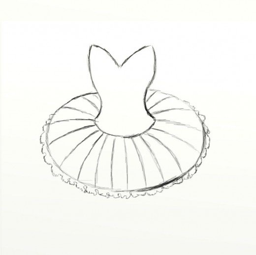 Tutu clipart easy. How to draw a