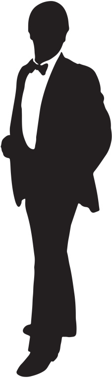 Tuxedo clipart guy. Silhouette of man in