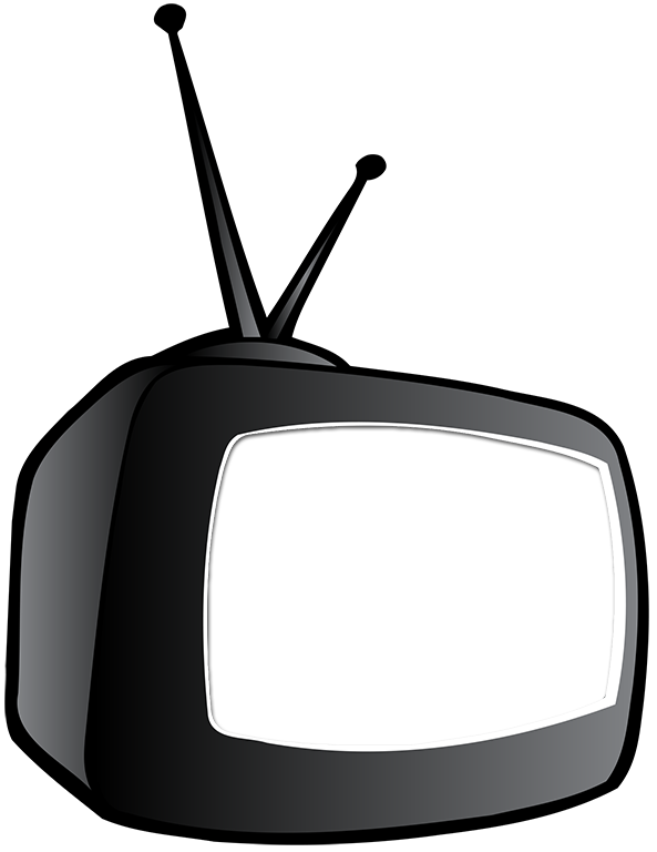 Tv cartoon png. With knockout screen tim