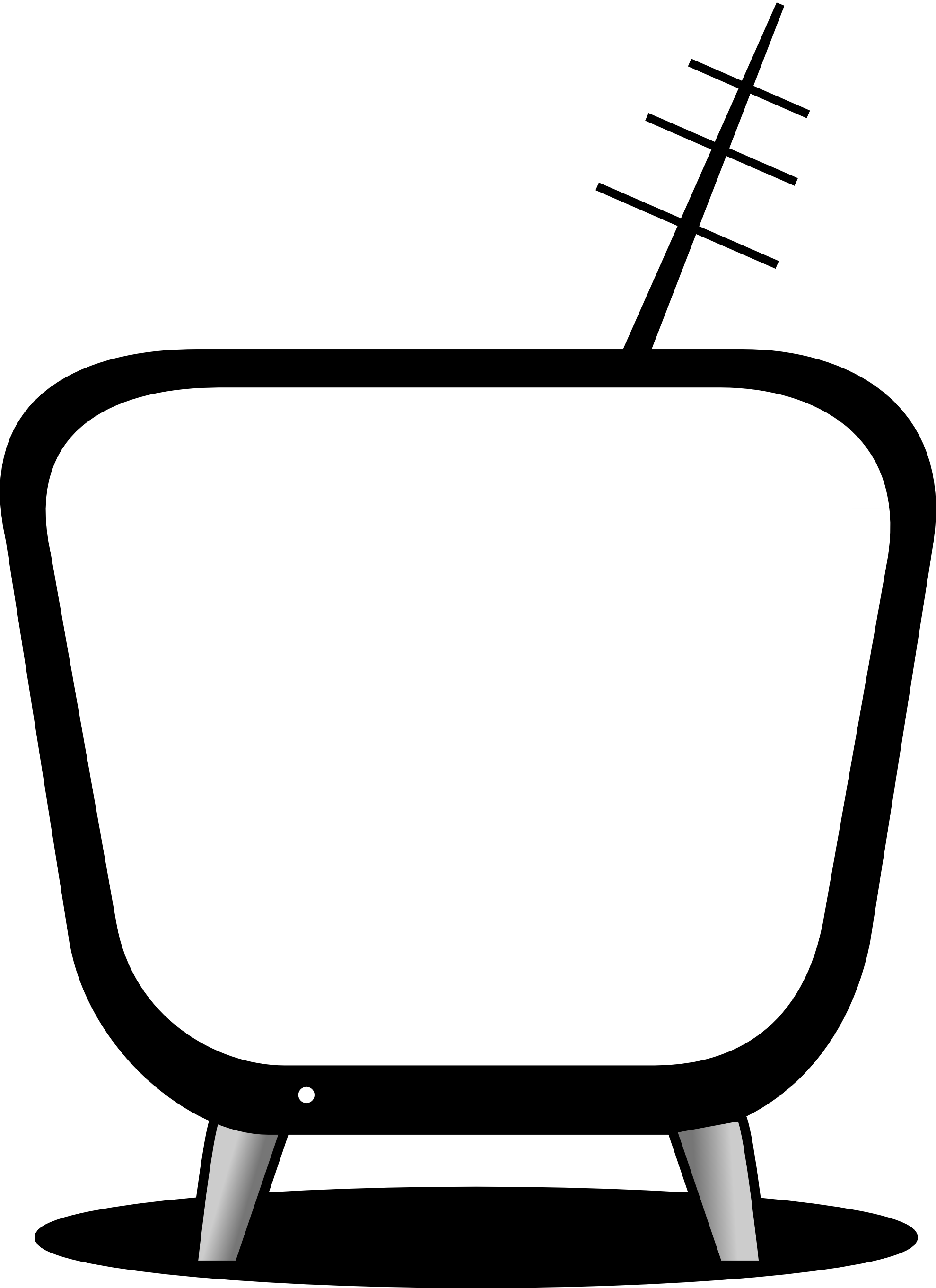 Tv clipart hd tv. Black and white images