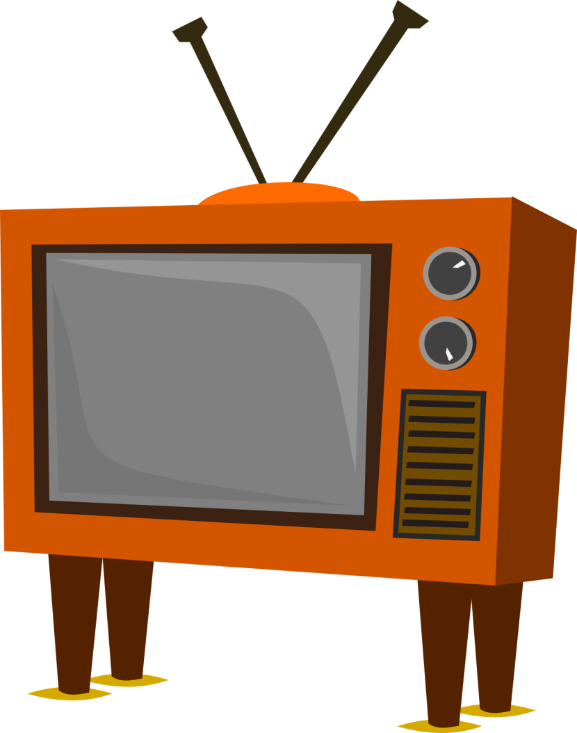 Tv clipart illustration. Big screen clip art