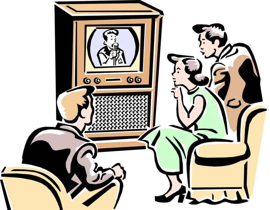 Tv clipart illustration. Family watching images gallery