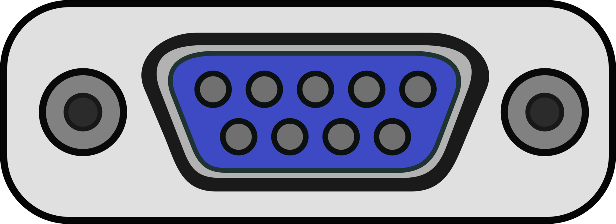 Tv clipart serial. Port computer rs icons
