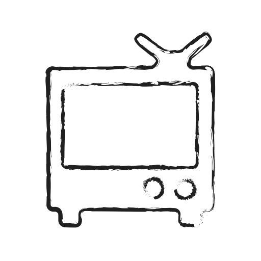 Tv doodle png. Mixed monitor black icon